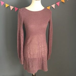 Knitted & Knotted Sz S 100% Alpaca Sweater Dress